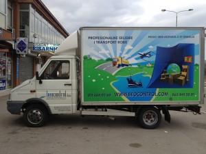 transport robe kamionom