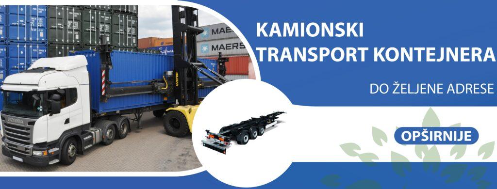 kamionski transport kontejnera